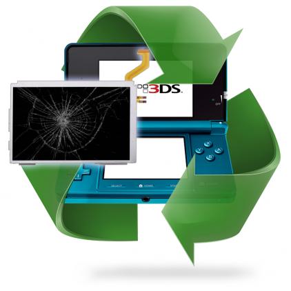 Remplacement écran Haut/Bas 3DS - 3DS XL - 2DS - DSi - DS Lite
