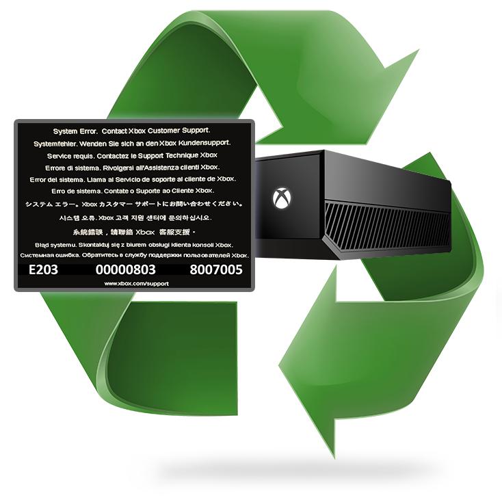Réparation erreur E203 Xbox One