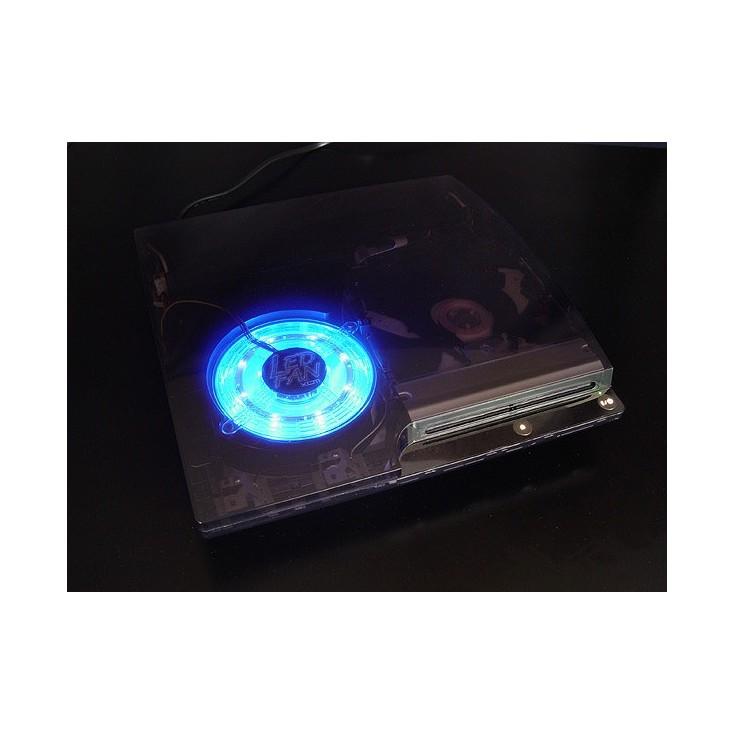 """Coque PS3 Sim """"Smoke"""" + ventilateur bleu"""